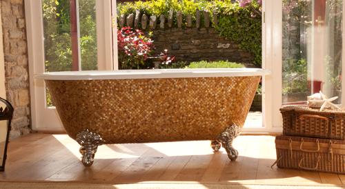 декорирование и отделка ванны мозаикой
