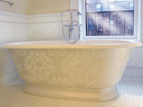 Идея для ванной комнаты современная классика